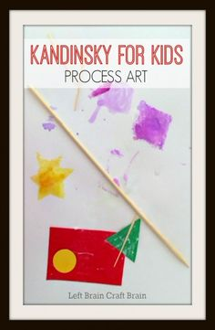 Kandinsky for Kids Process Art is a great way to give kids an open ended art project and teach them some art history at the same time.