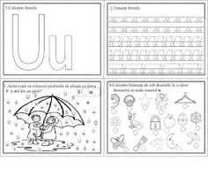 EDUCATIA CONTEAZA: Literele T, Ț, U Tracing Worksheets, Preschool Worksheets, Alphabet Writing, Easy Easter Crafts, Art Studies, Diy And Crafts, Lettering, Kids, Study