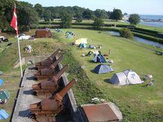 Fort charlottenlund camping. Mooie kleine camping in Kopenhagen.