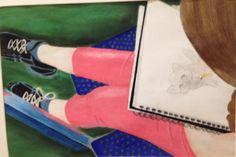 """Karamel"" by Kristie Marler from the Strack Intermediate School art program. #ArtColony #HouArtFest"