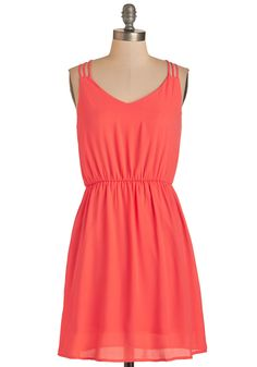 All-Around Adorable Dress. Casual yet charming, this bright coral dress is one of your favorites! #coral #modcloth