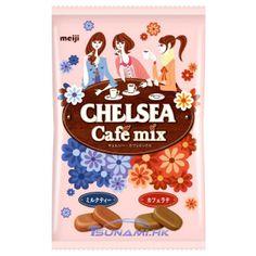 Meiji Chelsea Cafe Mix Milk Tea & Cafe Latte Candy Bag