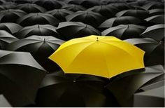 Kindness is a yellow umbrella covering the rainy days of life!