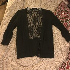 3/4 sleeve transparent back cover up Never worn ! Rue 21 Tops