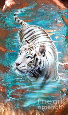 White Tiger Art -- Gorgeous colours, amazing art