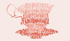 Typographic Poems Shaped In 'Alice's Adventures in Wonderland' Characters - DesignTAXI.com