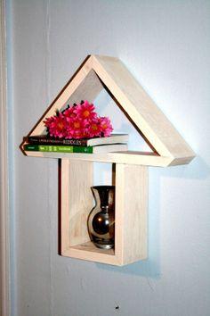 Geometric Shelf Shadow Box Shelf Up Arrow by AppalachianArtisans, $40.00