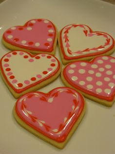 Valentine cookie ideas from A Counselor's Confections