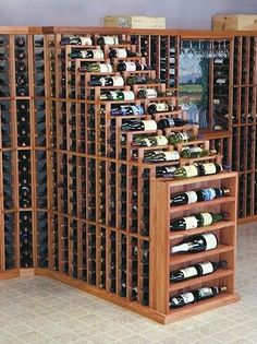 Features: -Individual bottle wine storage cascading down with a waterfall of display bottles on top. -Designer Series collection. Material: -Wood. Wine Bottle Capacity: -270. Country of Manufactu