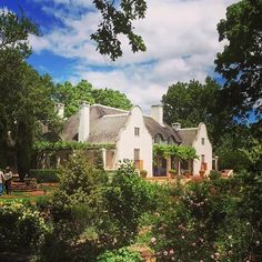 Colonial Art, Dutch Colonial, South African Homes, Cape Dutch, Outdoor Office, Dutch House, Thatched Roof, Australia Living, White Houses