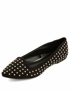 Studded Pointy Toe Flat: Charlotte Russe  $11.99  Size: 9