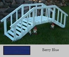 Prairie Leisure Design 43 Berry Blue Large Decorative Bridge With Rails - Berry Blue by PRAIRIE LEISURE. $309.40. Please allow a lead time of 14 days. Great Gift Idea.. Manufactured to the Highest Quality Available.. Design is stylish and innovative. Satisfaction Ensured.. Prairie Leisure Large Garden Bridge with Wood Railing for backyard landscaping that will set you apart! We bridge the gap between affordability and eye-catching charm! Great for the garden, ...