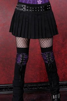 Tripp Eyelet Belt Pleated Skirt :: VampireFreaks Store :: Gothic Clothing, Cyber-goth, punk, metal, alternative, rave, freak fashions
