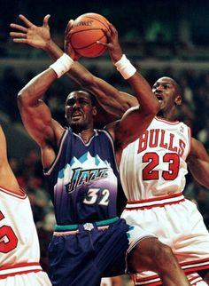 Karl Malone - Utah Jazz and Michael Jordan