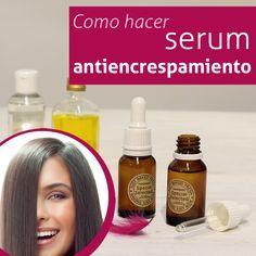 Paso a paso con video tutorial para hacer serum antiencrespamiento que no ensucia el pelo aportando brillo natural al cabello.