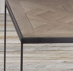 Reclaimed Oak Parquet Side Table