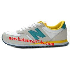 the latest 4ae7b a5ca3 Womens New Balance 420 Trainers In Lightgrey White Darkcyan and Yellow  Factory Outlet Store UK