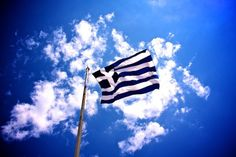 I don't know too much about my Greek heritage, but one day I hope to visit all of my motherlands. Greek Flag, Western Philosophy, Greek Beauty, Greek Culture, Greek Life, Ancient Greece, Greece Travel, Crete, Santorini