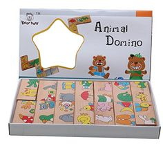 Educational Toys Wooden Toy Animal Domino Puzzles Baby Gift ** See this great product.