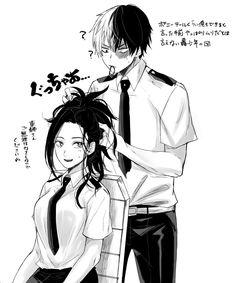 Boku no Hero Academia || Momo Yaoyorozu, Todoroki Shouto.