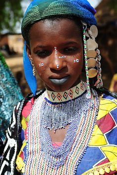 Africa | Fulani/Peul with ceremonial dress. Benin | ©Luca Gargano