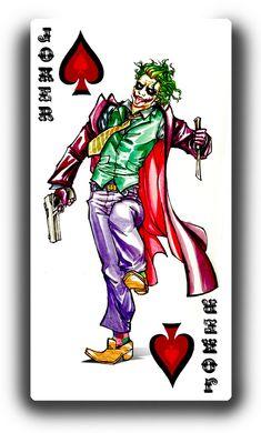 Joker from Batman. Joker Batman, Joker Art, Superman, Harley Quinn Tattoo, Joker Und Harley Quinn, Joker Card Tattoo, Joker Kunst, Dc Comics, Joker Playing Card
