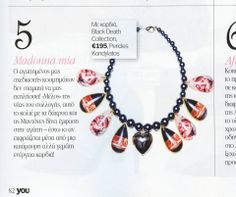 """""""Black Death"""" necklace featured @ YOU Magazine Dec. 2013  """"Black Death"""" Collection by Pericles Kondylatos Available to buy on-line @ Etsy e-shop: https://www.etsy.com/shop/PericlesKondylatos """"Black Death – Gypsy Cult"""" A jewelry collection - Homage to Goth & Gypsy culture."""