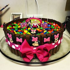 Minnie Mouse kit Kat birthday cake for Emily's 3rd birthday