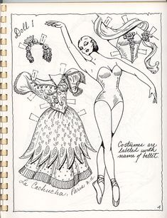 BALLET BOOK 2 BY CHARLES VENTURA A PAPER DOLL | Marges8's Blog