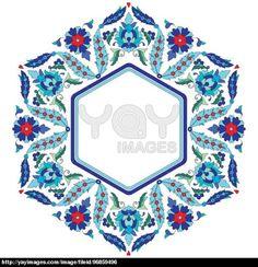 Ottoman motifs design series sixty eight