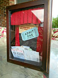Ticket Stub Shadow Box! {Just enough pictures} :) - HOME SWEET HOME