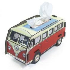 Volkswagen VW Van Red Wooden Tissue Box Holder DIY Tissue Box Cover: Amazon.co.uk: Kitchen & Home