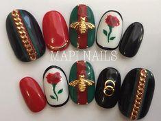 初めて描く # #グッチシリーズ まだ作ります #グッチネイル #ネイルデザイン #ネイル #セルフネイル #ネイルチップ #nailstagram #guccinails #inspire #nail #nails #