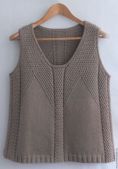 """""""Happiness"""", Norah Gaughan collection 4 (I believe photo from Ravelry) Summer Knitting, Free Knitting, Knit Fashion, Womens Fashion, Vest Pattern, Latest Street Fashion, Madame, Knitting Designs, Cardigans For Women"""