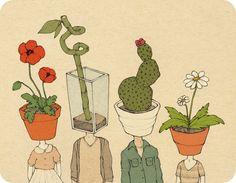 Imagem de plants, flowers, and people