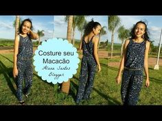 Costure seu macacão Alana Santos Blogger - YouTube Alana Santos, Youtube, Prom Dresses, Formal Dresses, Sewing, Cloths, Fashion, Rompers Women, Sewing Ideas