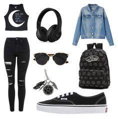 """""""Were are you now that I need you"""" by evakibeautiful on Polyvore featuring Topshop, Vans, Beats by Dr. Dre and Christian Dior"""