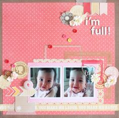 I'm full! - Crate Paper - Oh Darling Collection - Die Cut Vellum Shapes