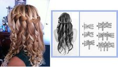 Curly Hair Waterfall Braid