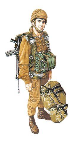 Paracaidista, 44 Brigada paracaidista, 1990. Army Uniform, Military Uniforms, Parachute Regiment, Defence Force, Paratrooper, Modern Warfare, Military Art, Empire, War Machine