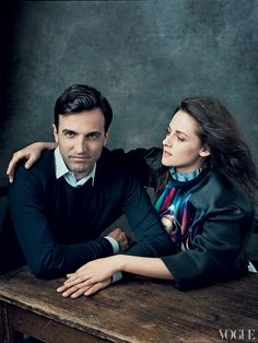 Nicolas Ghesquière and Kristen Stewart  Photographed by Norman Jean Roy