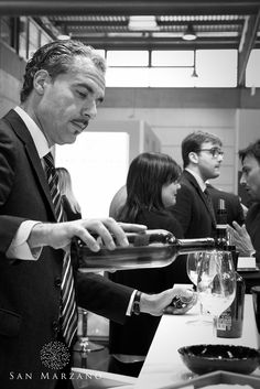 Our Export Manager Salvatore Ricciardi at our Vinitaly 2015 stand.