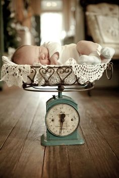 vintage scale. The only baby picture that doesn't creep me out