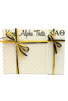 "Kappa Alpha Theta 3"" x 8"" and 8"" x 8"" Note Pads from South Bound Sisters"
