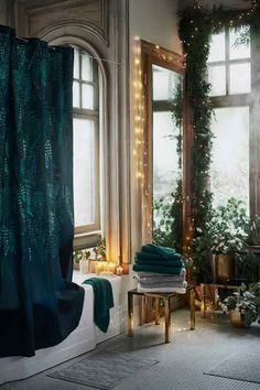 Kareli Dokuma Banyo Havlusu - Koyu yeşil - Home All | H&M TR 1