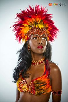Explosion Carnival Costumes for Trinidad Carnival 2012 Phoenix . Trinidad Carnival, Caribbean Carnival, Pheonix Costume, Dance Costumes, Halloween Costumes, Fire Costume, Carnival Makeup, Rio Carnival Costumes, Carnival Festival