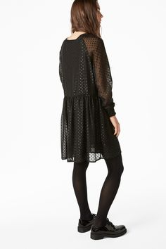 Monki Image 4 of Long sleeve dress in Black