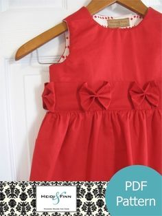 the Perfect Holiday Dress pattern and tutorial 12M-5T ebook PDF. $6,95, via Etsy.