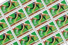 The Great Race Stamp Set Vintage Unused Postage for by GubbaGumma