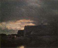 Evening by Jules Dupré (1811 – 1889).